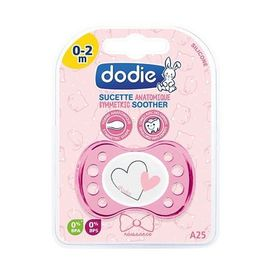 Dodie sucette naissance anatomique silicone rose 0-2 mois - dodie -221572