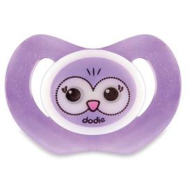 Dodie sucette physiologique silicone nuit +18 m hibou violet p48 - dodie -210546