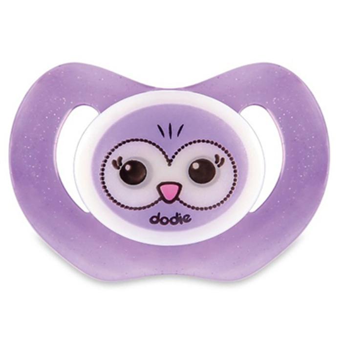 Dodie sucette physiologique silicone nuit +18 m hibou violet p48 Dodie-210546