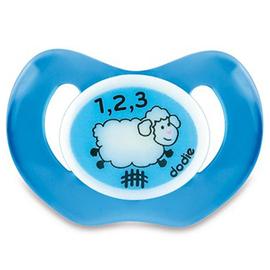 Dodie sucette physiologique silicone nuit mouton bleu +18m p48 - dodie -221650