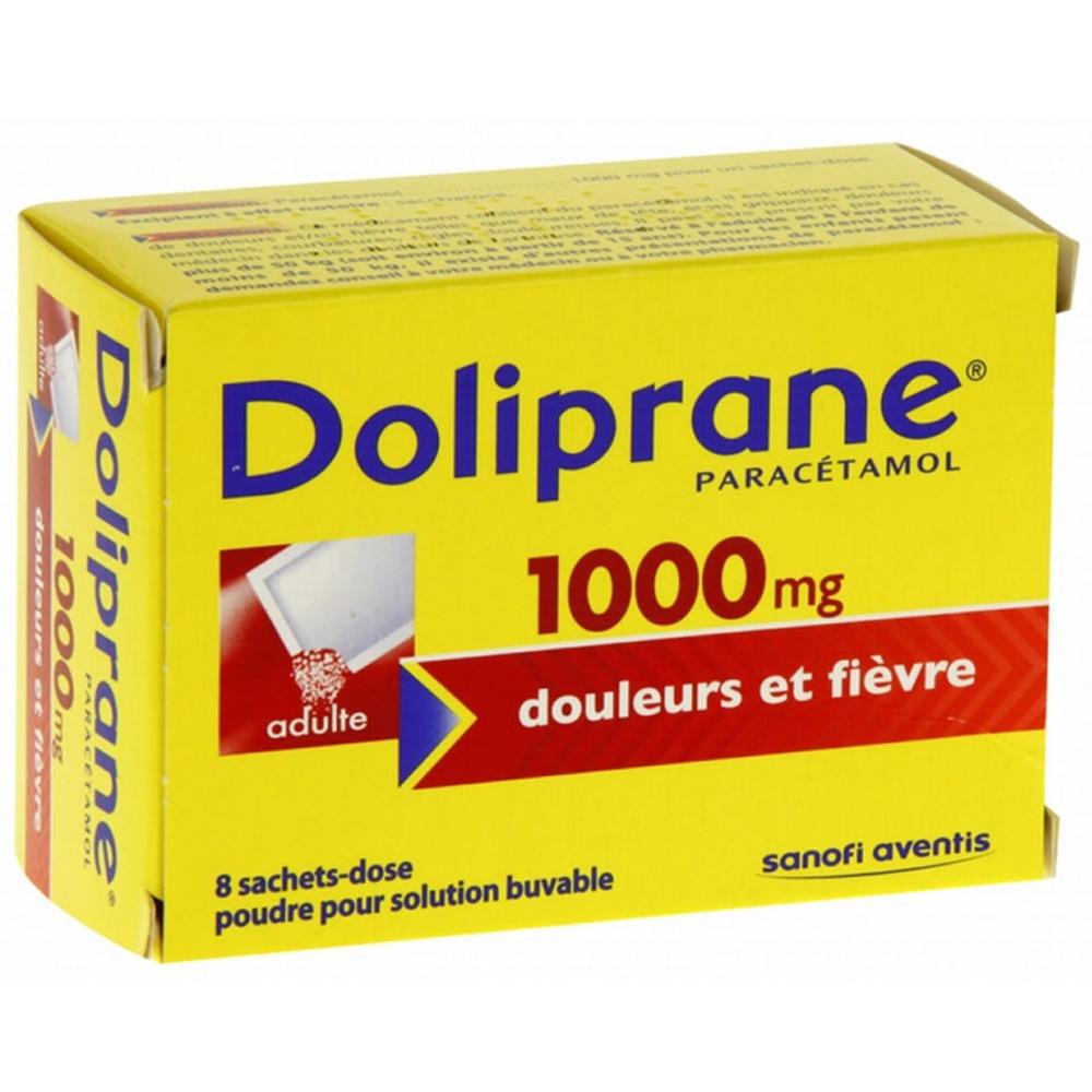 Doliprane 1000mg - 8 sachets-dose Sanofi-192228