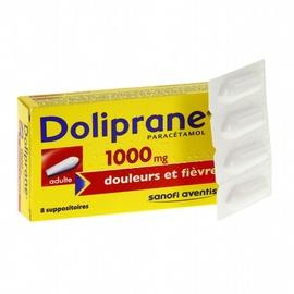 Doliprane 1000mg - 8 suppositoires - sanofi -192122