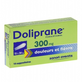 Doliprane 300mg - 10 suppositoires - sanofi -192139