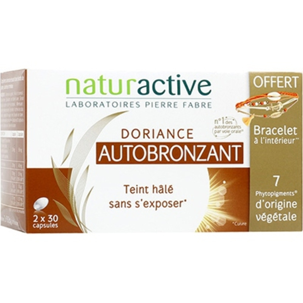 DORIANCE Autobronzant 2x30 capsules + Collier OFFERT - Doriance -213986