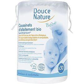 Douce nature bébé coussinets d'allaitement bio x30 - divers - douce nature -142038