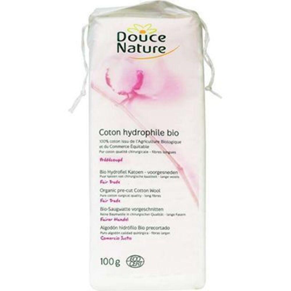Douce nature coton hydrophile bio 100g - 100.0 g - soins du corps - douce nature -134965