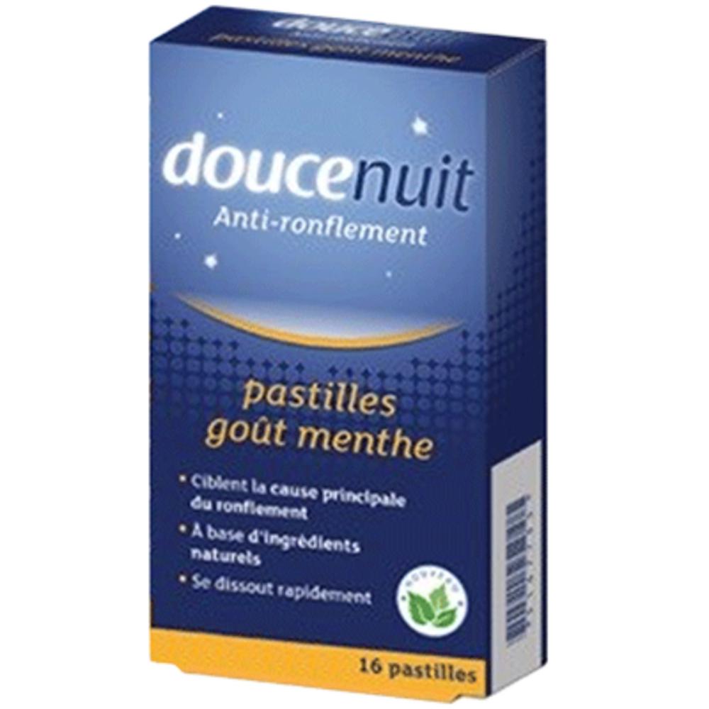 Doucenuit anti-ronflement 16 pastilles menthe - 12.0 unites - anti-ronflement - douce nuit -139807