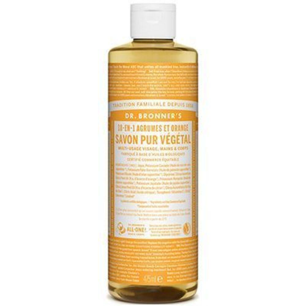 Dr bronner's savon pur végétal 18-en-1 agrumes orange 473ml Dr bronner s-220625