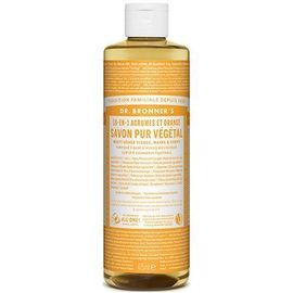 Dr bronner's savon pur végétal 18-en-1 agrumes orange 473ml - dr bronner s -220625