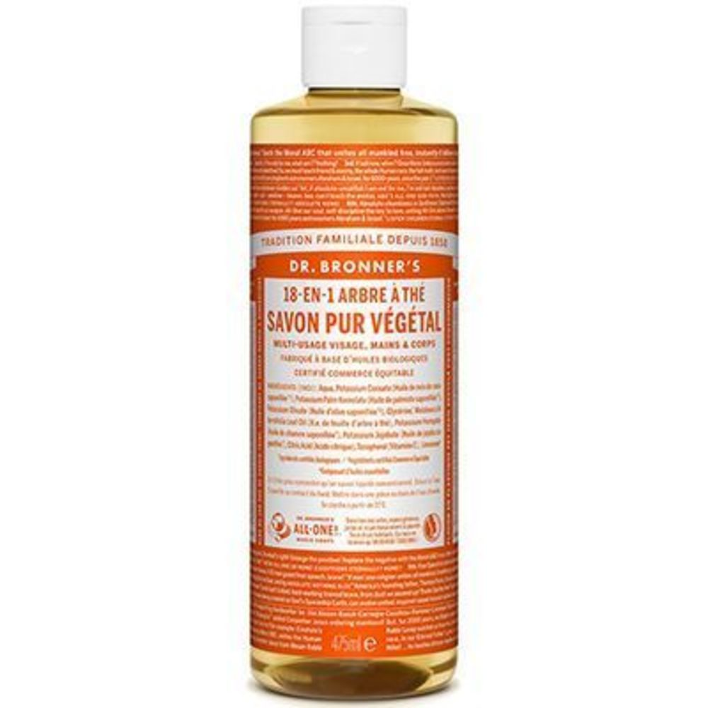 Dr bronner's savon pur végétal 18-en-1 arbre à thé 473ml - dr bronner s -220629