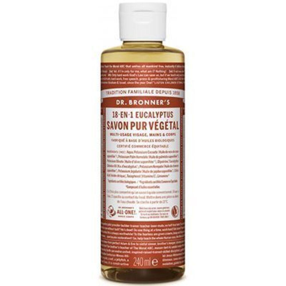 Dr bronner's savon pur végétal 18-en-1 eucalyptus 240ml Dr bronner s-220630
