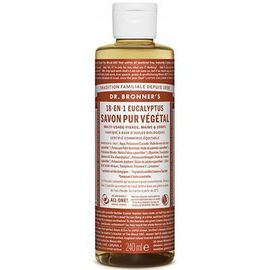 Dr bronner's savon pur végétal 18-en-1 eucalyptus 240ml - dr bronner s -220630