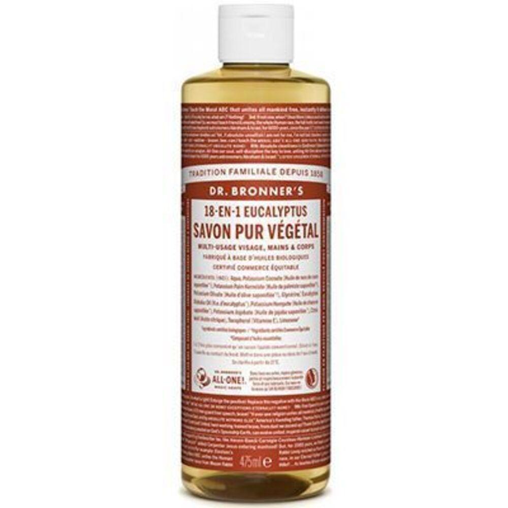 Dr bronner's savon pur végétal 18-en-1 eucalyptus 473ml - dr bronner s -220631
