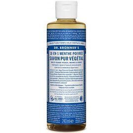 Dr bronner's savon pur végétal 18-en-1 menthe poivrée 240ml - dr bronner s -220634