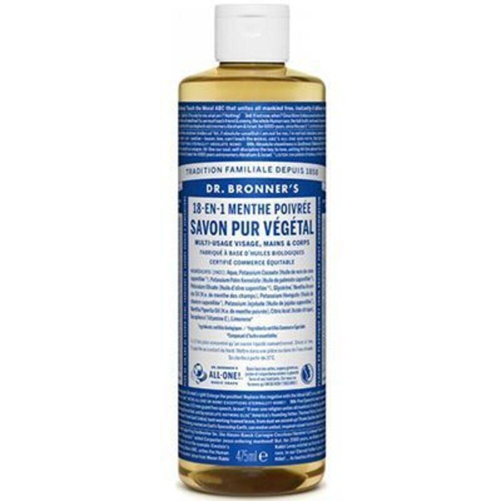 Dr bronner's savon pur végétal 18-en-1 menthe poivrée 473ml Dr bronner s-220635