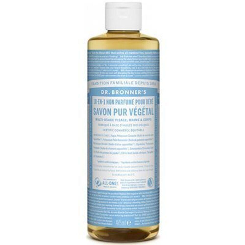 Dr bronner's savon pur végétal 18-en-1 non parfumé pour bébé 473ml Dr bronner s-220637