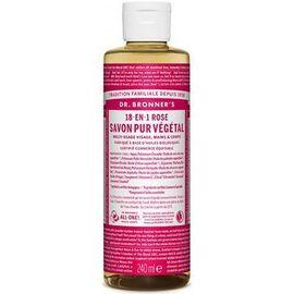 Dr bronner's savon pur végétal 18-en-1 rose 240ml - dr bronner s -220638