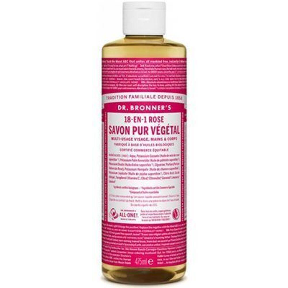 Dr bronner's savon pur végétal 18-en-1 rose 473ml - dr bronner s -220639