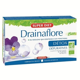 Drainaflore bio - 20 ampoules - 20.0 unites - drainage - super diet Bio formule dépurative-2765