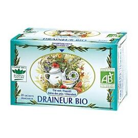 Draîneur bio - 20.0 unites - tisanes complexes bio - romon nature Thé vert, Pissenlit, Reine des prés, Chiendent-13049