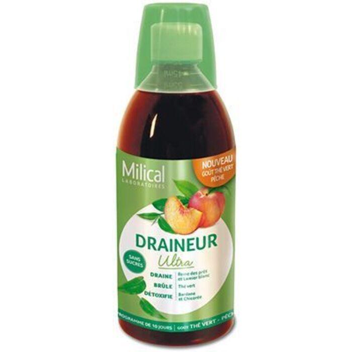 Draîneur ultra thé vert pêche 500ml Milical-221783