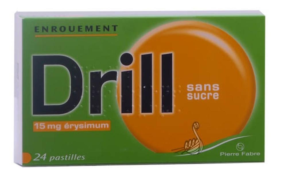 Drill enrouement 15mg sans sucre - 24 pastilles - pierre fabre -192556