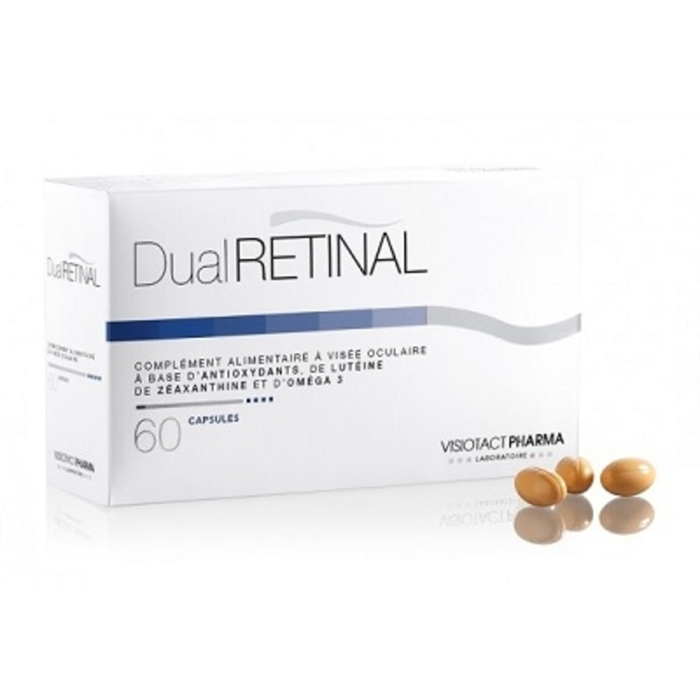 Dual retinal - 60 capsules - visiotact pharma -107208