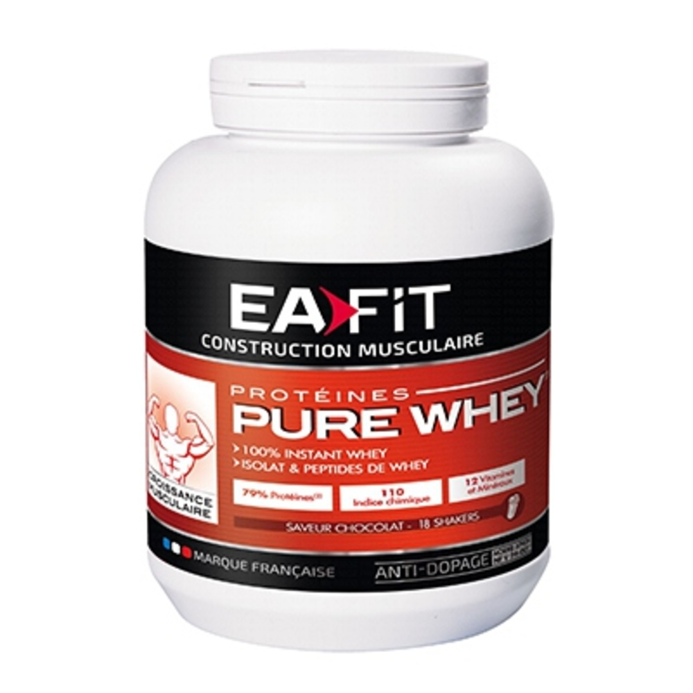 Eafit pure whey chocolat - 750.0 g - construction musculaire - ea-fit -123498