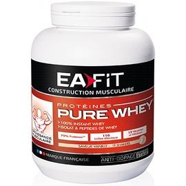 Eafit pure whey vanille - 750.0 g - construction musculaire - ea-fit -123497