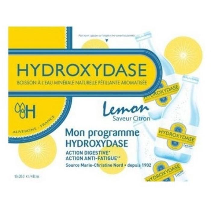Eau minérale naturelle gazeuse citron x10 Hydroxydase-189296