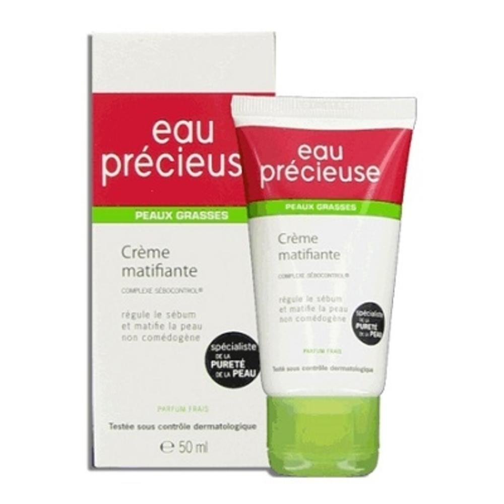 Eau precieuse crème matifiante - 50.0 ml - eau précieuse pur - omega pharma Régule et matifie-3488
