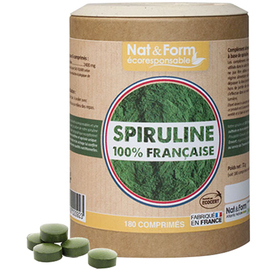 Eco spiruline 100% française 400 mg 180 comprimés - nat & form -219287
