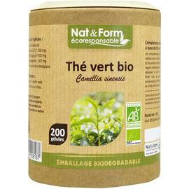 Eco thé vert bio 200 gélules - nat & form -221132