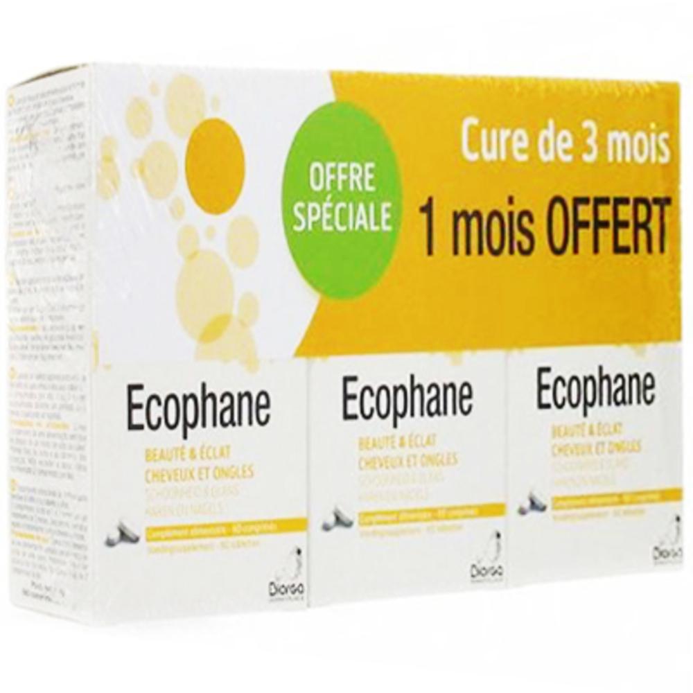 Ecophane beauté & eclat cheveux et ongles lot de 3 x 60 comprimés - ecophane -216415