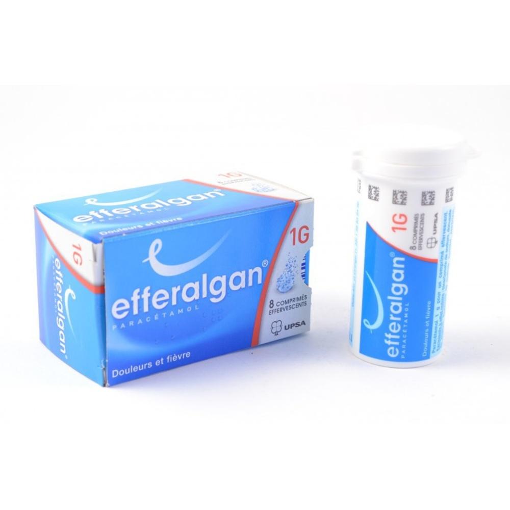 Efferalgan 1g - 8 comprimes effervescents - upsa -192227