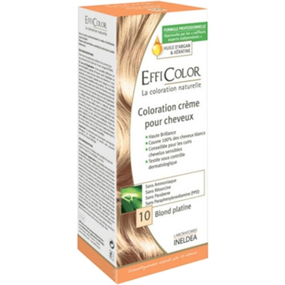 Efficolor coloration crème 10 blond platine - efficolor -200636