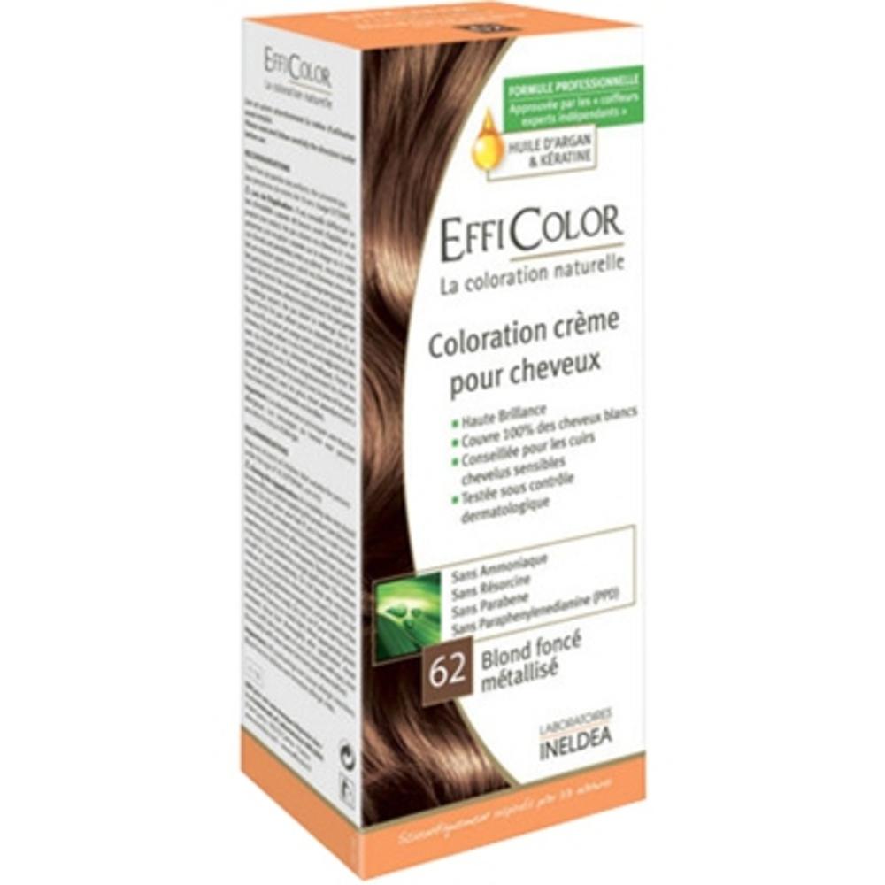 Efficolor coloration crème 62 blond foncé métallisé - efficolor -200634