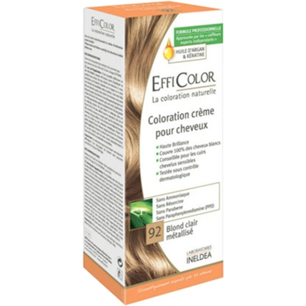 Efficolor coloration crème 92 blond clair métallisé - efficolor -200644