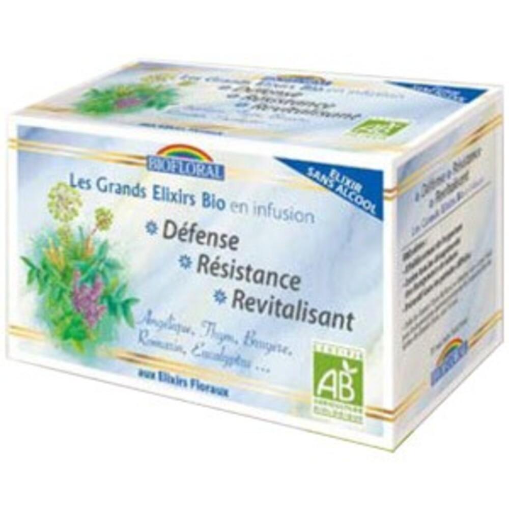 Elixir Défence, Résistance sans alcool BIO - 20 sachets - divers - Biofloral -134077