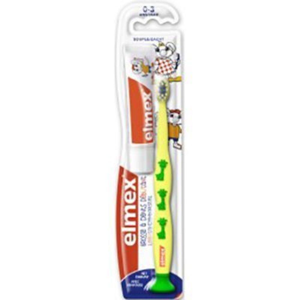 Elmex brosse à dents débutant souple 0-3 ans jaune - elmex -226049