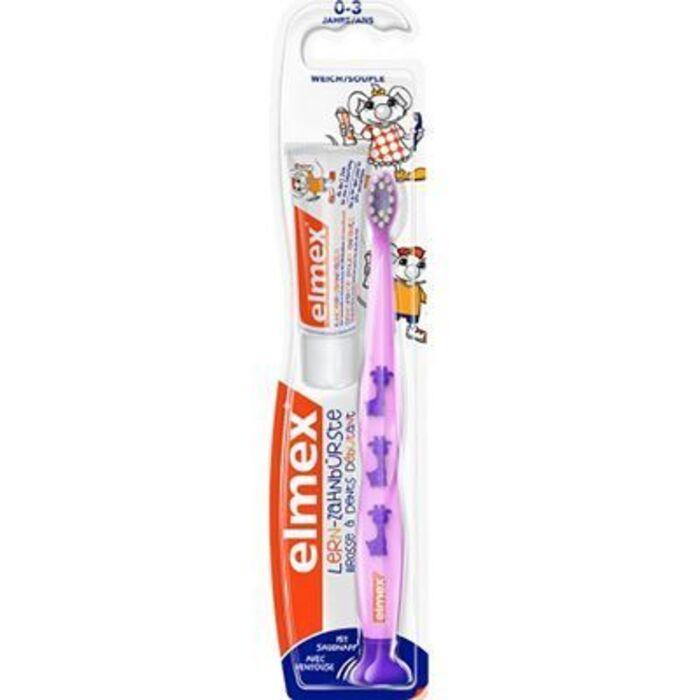 Elmex brosse à dents débutant souple 0-3 ans violet Elmex-226050