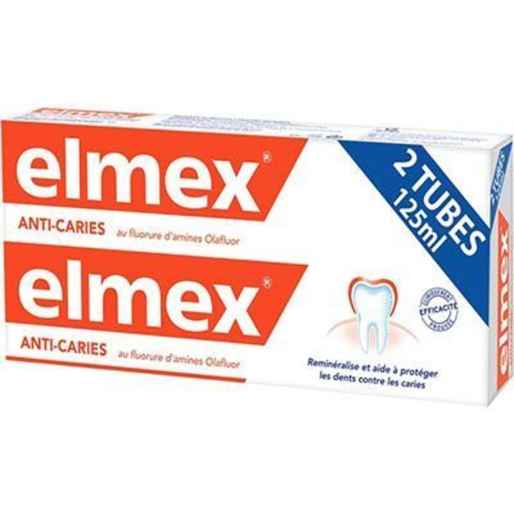 ELMEX Dentifrice Anti-caries 2x125ml - Elmex -190754