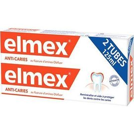 Elmex dentifrice anti-caries 2x125ml - elmex -190754