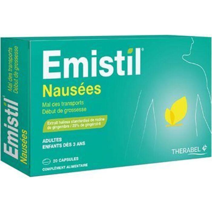 Emistil nausées 20 capsules Therabel-225574