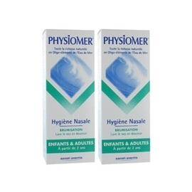 Enfants adultes brumisation - lot de 2 - 135.0 ml - hygiène nasale - physiomer 2 x 135ml-141440