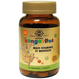 Enfants kangavites multi-vitamines et minéraux - 60.0 unites - multivitamines - solgar -140973