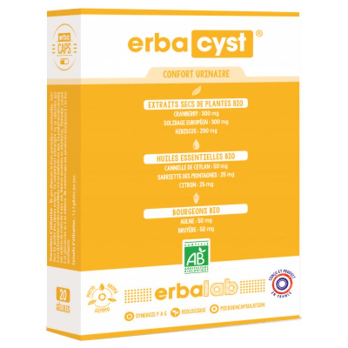 Erbacyst confort urinaire 10 gélules Erbalab-223277