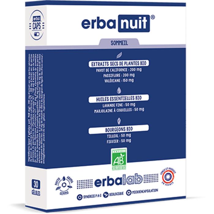 Erbanuit 30 gélules Erbalab-216119