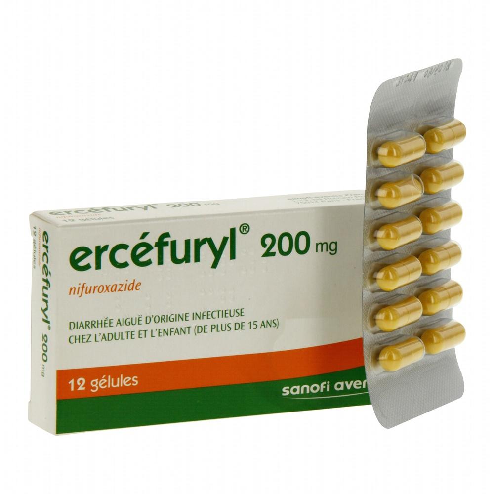 Ercefuryl 200mg - 12 gélules - sanofi -192440
