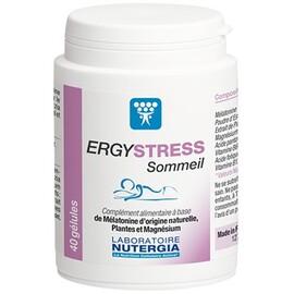 Ergystress sommeil 40 gélules - nutergia -213904